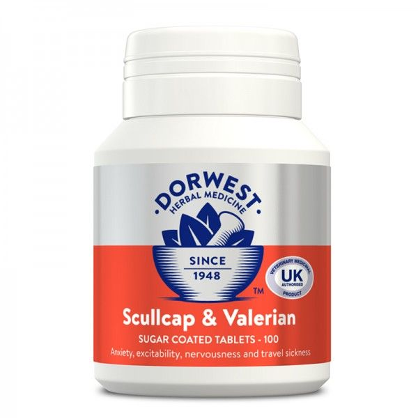 Dorwest Scullcap and Valerain tablets (100)